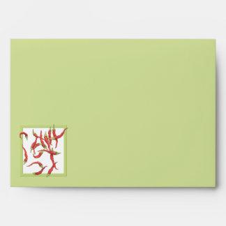 Sobre a juego candente de la carta verde de los ch