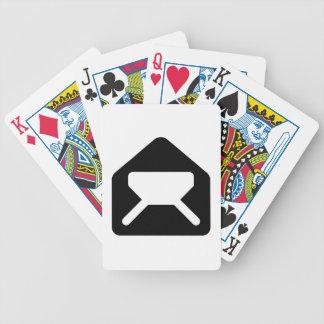 Sobre abierto baraja cartas de poker