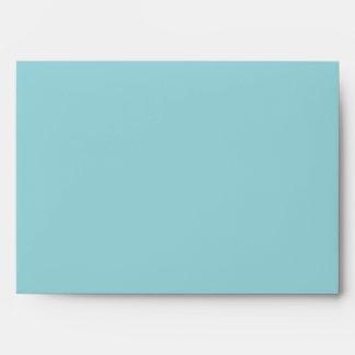 Sobre adaptable en blanco azul de la aguamarina