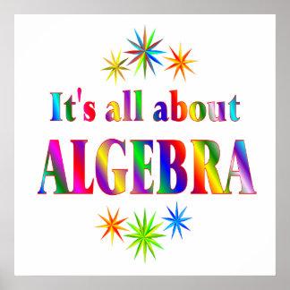 Sobre álgebra - comenzando en 11 80 impresiones