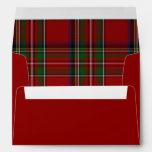 Sobre alineado tela escocesa real roja del navidad