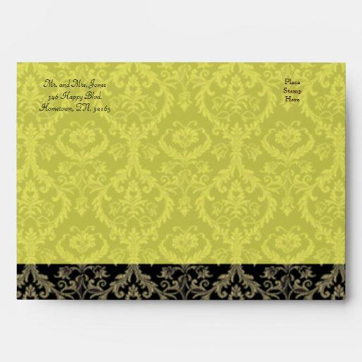 Sobre amarillo de oro del diseño II de las costura