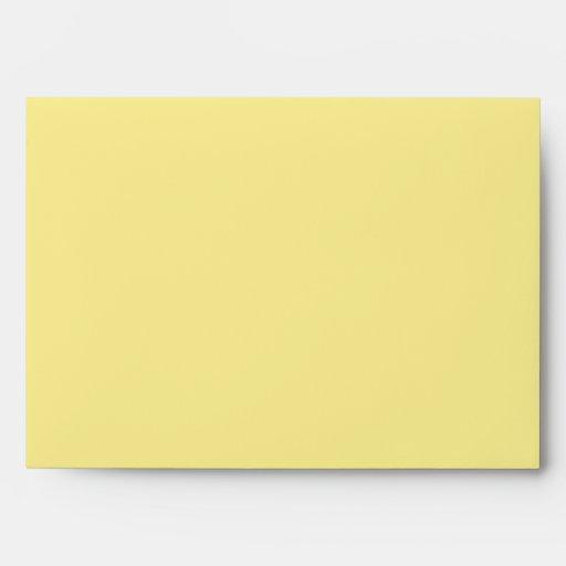 Sobre amarillo/gris de Chevron moderno del boda