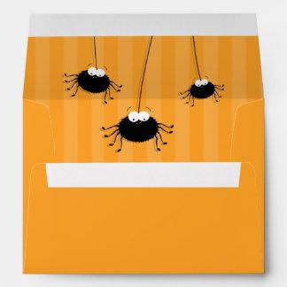Sobre anaranjado de las arañas el | Halloween de