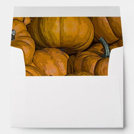 Sobre anaranjado de las calabazas del otoño