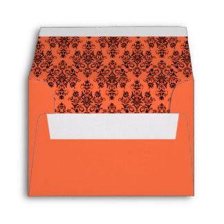 Sobre anaranjado del boda de la mandarina con la d