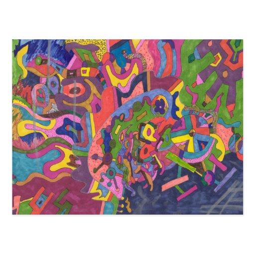 """Sobre arte abstracto de la tormenta"" Tarjetas Postales"