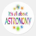 Sobre astronomía pegatina redonda
