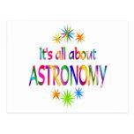 Sobre astronomía postal