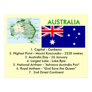 Sobre Australia Tarjeta Postal
