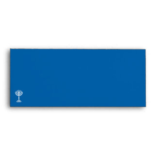 Sobre azul #10 de la invitación del adorno de Hanu