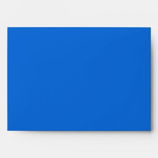 Sobre azul de la tarjeta de felicitación del día d