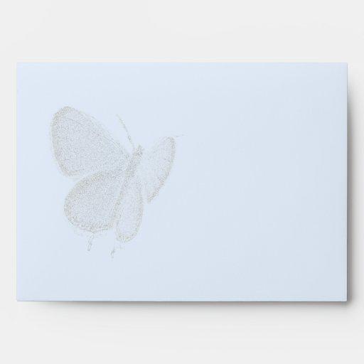 Sobre azul Del este-Atado de la mariposa