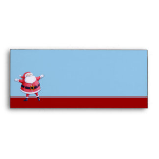 Sobre azul del papel con membrete de Papá Noel