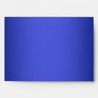 Sobre azul del remite para los tamaños 5x7