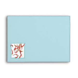 Sobre azul el hacer juego de tarjeta de los chiles