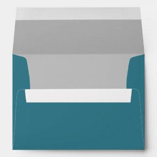 Sobre azul y gris del trullo de encargo con el rem