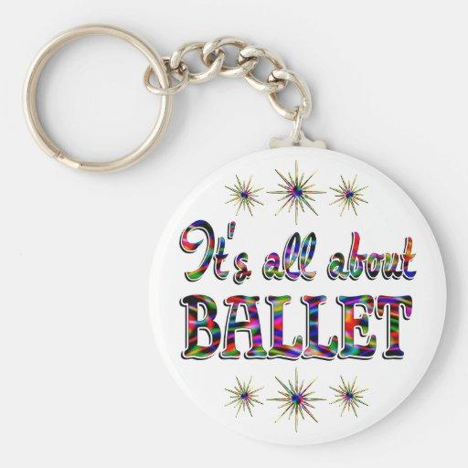 Sobre ballet llavero personalizado