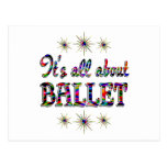 Sobre ballet tarjetas postales