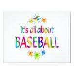 Sobre béisbol anuncio personalizado