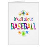 Sobre béisbol tarjeta