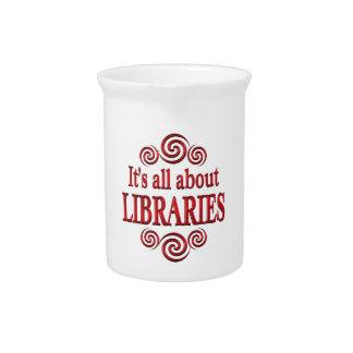 Sobre bibliotecas jarras de beber