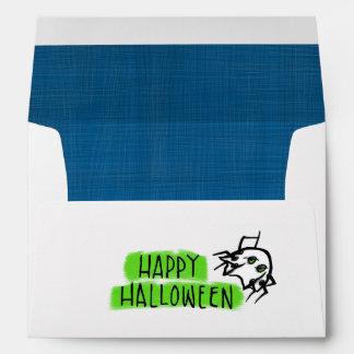 Sobre blanco de la tarjeta A7 de Halloween del pal