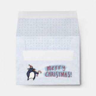 Sobre blanco de la tarjeta de nota A2 del navidad