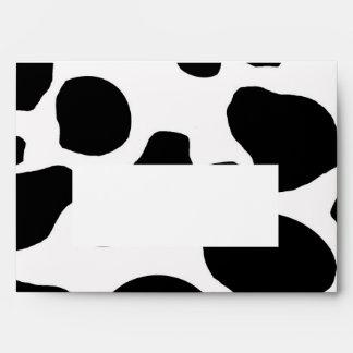 Sobre blanco negro de la impresión A7 de la vaca