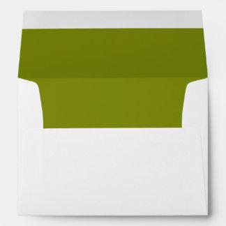Sobre blanco, trazador de líneas verde