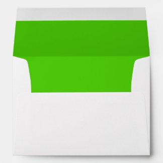 Sobre blanco, trazador de líneas verde claro