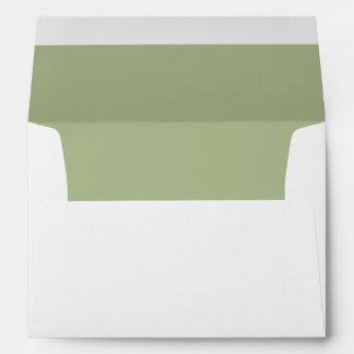 Sobre blanco, trazador de líneas verde del Peridot