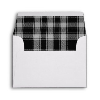 Sobre blanco y negro del personalizado de la tela