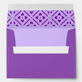 Sobre - bonito y púrpura