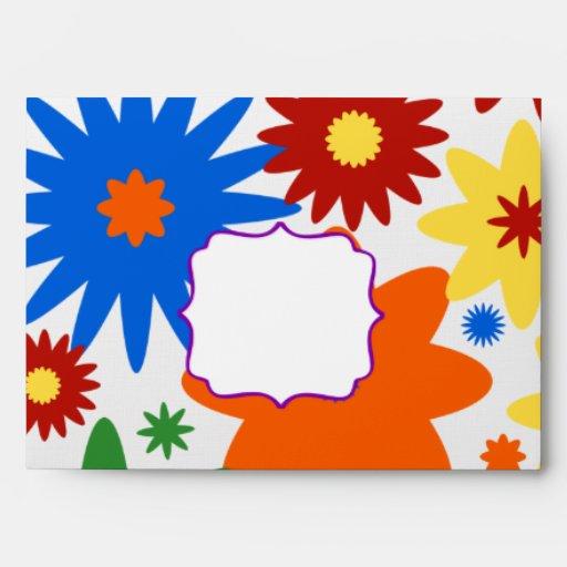Sobre brillante de la tarjeta de felicitación de