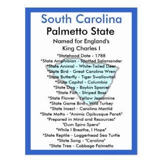 Sobre Carolina del Sur Postales