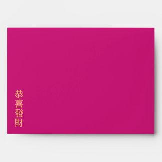 Sobre chino 4 del Año Nuevo del batik floral de Sa