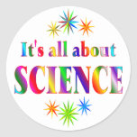 Sobre ciencia pegatinas redondas