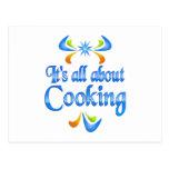 Sobre cocinar tarjetas postales