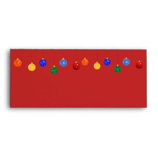 Sobre colgante rojo del navidad de los ornamentos