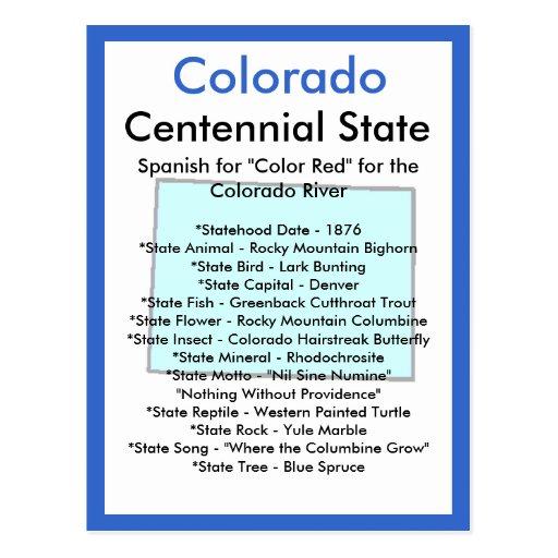 Sobre Colorado Tarjetas Postales