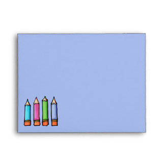 Sobre coloreado de la tarjeta de nota de la lavand