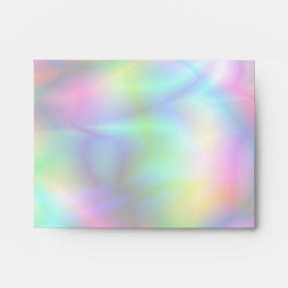 Sobre colorido de la tarjeta de nota de la abstrac