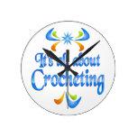 Sobre Crocheting Relojes De Pared