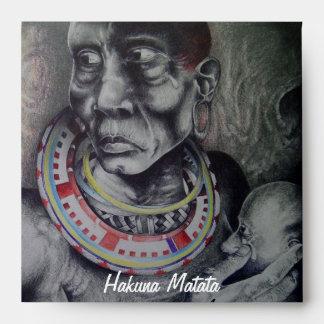 Sobre cuadrado de la invitación de Hakuna Matata d