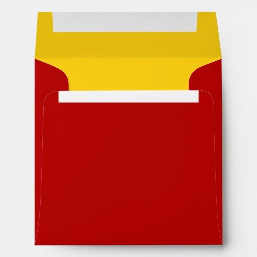 Sobre cuadrado rojo-amarillo
