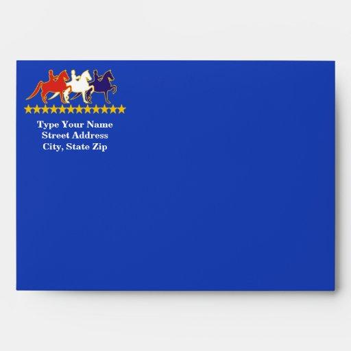 Sobre de encargo de la tarjeta de felicitación de