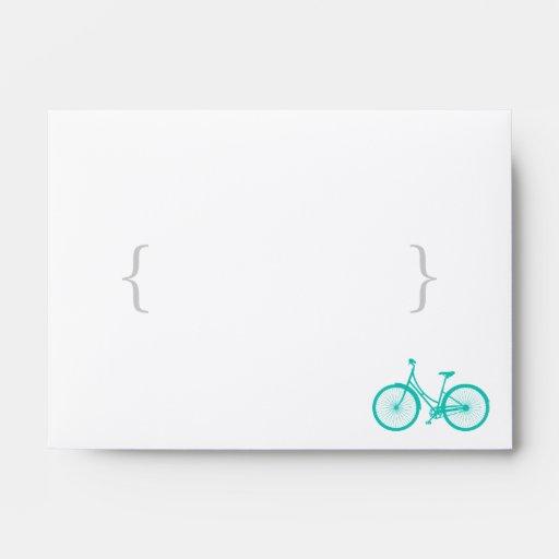 Sobre de envío azul de la bicicleta y de Chevron