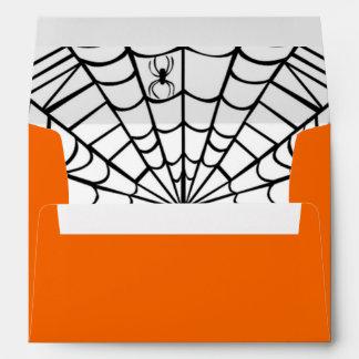 Sobre de Halloween - Web de araña