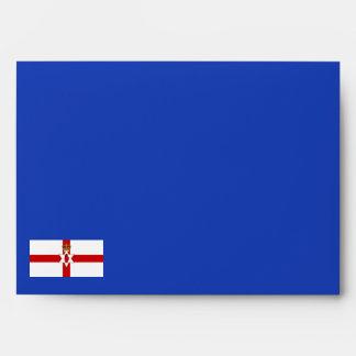 Sobre de la bandera de Irlanda del Norte